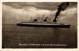 CPA Paquebot Normandie, SHIPS (763188) - Paquebote