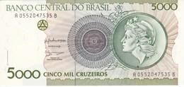 BILLETE DE BRASIL DE 5000 CRUZEIROS DEL AÑO 1990  (BANKNOTE) SIN CIRCULAR-UNCIRCULATED - Brasil
