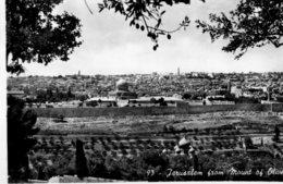 PALESTINE (Israel) RPPC Jerusalem From Mount Of Olives - Palestine
