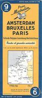 CARTE-ROUTIERE-MICHELIN-1955-56/-N°9-AMSTERDAM-BRUXELLES-PARIS-PAS De PLI  DECHIRE-TBE - Cartes Routières