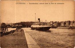 CPA Cherbourg- Transbordeur Entrant Dans Le Port De Commerce, SHIPS (763387) - Steamers