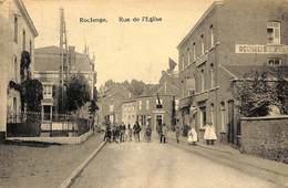 Roclenge - Rue De L'Eglise (animée, Publicité Delhaize, 1924) - Geer