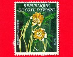 COSTA D'AVORIO - Usato - 1977 - Fiori - Strophanthus Hispidus - 5 - Costa D'Avorio (1960-...)
