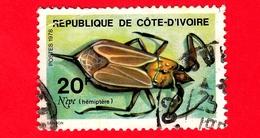 COSTA D'AVORIO - Usato - 1978 - Insetti - Water Scorpion (Nepa Cinerea) - 20 - Costa D'Avorio (1960-...)