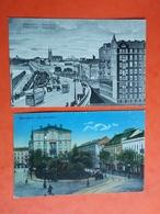 2 Cartes Warschau, VARSOVIE, WARSZAWA / Cachet Colmar P.K 1916 - Poland