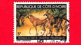 COSTA D'AVORIO - Usato - 1979 - Animali In Pericolo Di Estinzione - Antilopi  - Sable Antelope (Hippotragus Niger) - 5 - Costa D'Avorio (1960-...)