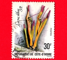 COSTA D'AVORIO - Usato - 1979 - Fiori - Locranthus - 30 - Costa D'Avorio (1960-...)