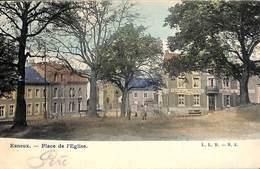 Esneux - Place De L'Eglise (animée, Colorisée, Café, L L B Précurseur) - Esneux