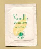 POCHETTE ECHANTILLON SACHET POCKET VANILLE BOURBON * YVES ROCHER *** 1 EX - Perfume Cards