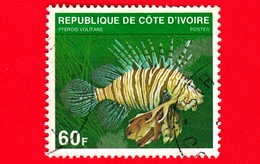 COSTA D'AVORIO - Usato - 1979 - Pesci - Fish - Red Lionfish (Pterois Volitans) - 60 - Costa D'Avorio (1960-...)