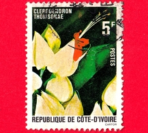 COSTA D'AVORIO - Usato - 1980 - Flora - Clerodendron Thomsonae - 5 - Costa D'Avorio (1960-...)