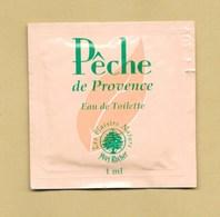 POCHETTE ECHANTILLON SACHET POCKET PECHE DE PROVENCE * YVES ROCHER * Variante *** 1 EX - Perfume Cards