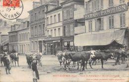 27-PONT AUDEMER-JOUR DE MARCHE AUX VACHES-N°R2041-G/0205 - Pont Audemer