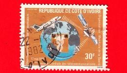 COSTA D'AVORIO - Usato - 1981 - 13° Giornata Mondiale Delle Telecomunicazioni - 30 - Costa D'Avorio (1960-...)