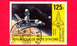 COSTA D'AVORIO - Usato - 1981 - Conquista Di Spazio - Space Shuttle Columbia - 125 - Costa D'Avorio (1960-...)