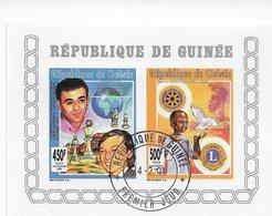 Guinee   ;  Chess Ajedrez  ; Silver O/p Conjunction Sheet - Guinea (1958-...)