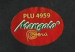 # MANGO MANGOLO PERU Fruit Sticker Label Etichette Etiquettes Etiquetas Adhesive Aufkleber Fruta Frucht - Fruits & Vegetables