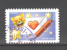 France Autoadhésif Oblitéré N°1561 (EMOJI) (Cachet Rond) - France