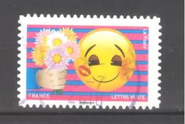 France Autoadhésif Oblitéré N°1563 (EMOJI) (Cachet Rond) - France