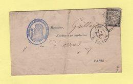 Paris - R. Bonaparte - Timbre Taxe 30c - Convocation Faculte De Medecine - 1883 - Storia Postale