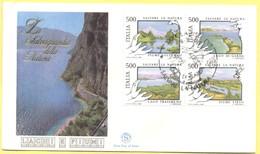 Italia Repubblica - 1987 - Salvare La Natura, Blocco - FDC Filagrano - Lazise - 6. 1946-.. Repubblica