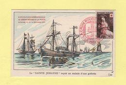 Croix Rouge - Exposition Le Havre - 1953 - La Saint Jehanne Recoit Un Malade D'une Goelette - Poste Navale