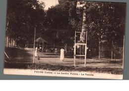 Cpa 42 Feurs Loire Le Jardin Public Le Tennis Déstockage à Saisir - Feurs