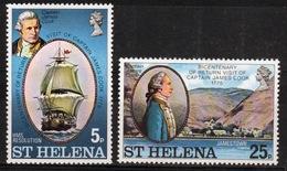 St Helena 1975 Set Of Stamps To Celebrate Bicentenary Of Cook's Return To St Helena. - Saint Helena Island