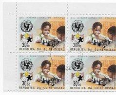 Guinea Bissau   ;  Chess Ajedrez  ; B Of 4 - Guinea-Bissau