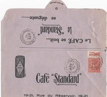 Semeuse 199 Carnet Pub Moet Chandon Sur Fragment De Lettre Publicitaire Convoyeur Ligne 4/11/1830 - Postmark Collection (Covers)