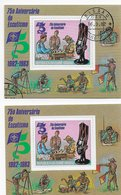 Guinea Bissau   ;  Chess Ajedrez  ; 2x S/s Different Color Frontside And Different Color Gum - Guinea-Bissau