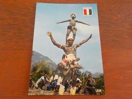 CPSM AFRIQUE COTE D IVOIRE  DANSE ACROBATIQUE GUERE NON VOYAGEE - Ivory Coast