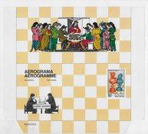Guinea Bissau   ;  Chess Ajedrez  ; Aerogramme - Guinea-Bissau