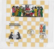 Guinea Bissau   ;  Chess Ajedrez  ; Aerogramme Cancel Disputa Entre Amigos Kasparov - Guinea-Bissau