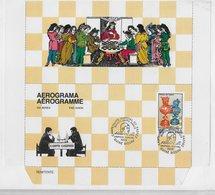 Guinea Bissau   ;  Chess Ajedrez  ; Aerogramme Cancel Disputa Entre Amigos Karpov - Guinea-Bissau