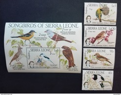 Sierra Leone 1985** Mi.799-02,bl.27. Birds  MNH [21;43] - Oiseaux