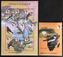 Central Africa 1999** Klb.2180-88,bl.621 Birds MNH [8;41] - Oiseaux