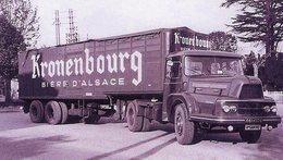 Camion Semi-remorque UNIC  -  Publicitaire Pour La Bière D'Alsace Kronenbourg    -  15x10 PHOTO - Camión & Camioneta