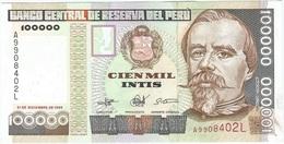 Perú 100.000 Intis 21-12-1989 Pick 145 UNC - Perú