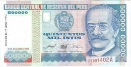 Perú 500.000 Intis 21-12-1989 Replacement (Z) Pick 147.r UNC - Perú