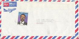 Ghana Air Mail Cover Sent To Denmark Single Franked - Ghana (1957-...)