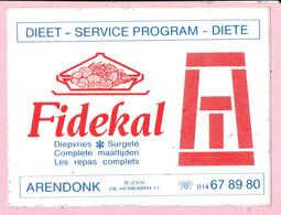 Sticker - Dieet Service Program - Fidekal - De Horeman Arendonk - Stickers