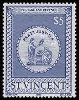 St Vincent 1980 $5 Postal Fiscal Unmounted Mint. - St.Vincent (1979-...)