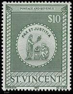 St Vincent 1980 $10 Postal Fiscal Unmounted Mint. - St.Vincent (1979-...)
