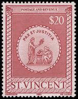 St Vincent 1980 $20 Postal Fiscal Unmounted Mint. - St.Vincent (1979-...)