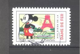 France Autoadhésif Oblitéré N°1582 (Mickey Et La France) (cachet Rond) - France