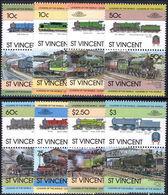 St Vincent 1984 Railway Locomotives Unmounted Mint. - St.Vincent (1979-...)