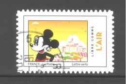 France Autoadhésif Oblitéré N°1583 (Mickey Et La France) (cachet Rond) - France