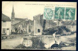 Cpa Du 08 Matton Clemency Pont Du Haut Du Village Et Coin Grande Rue Incendié En 1914    SEPT18-42 - Altri Comuni