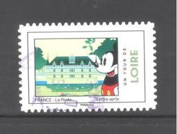 France Autoadhésif Oblitéré N°1584 (Mickey Et La France) (cachet Rond) - France